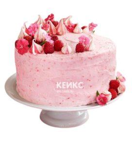 Торт бело-розовый 7