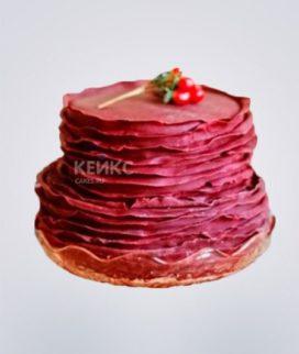 Торт бордовый