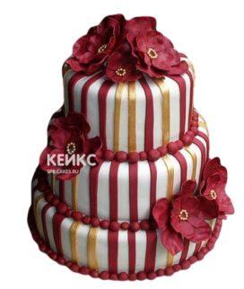 Торт бордовый 5
