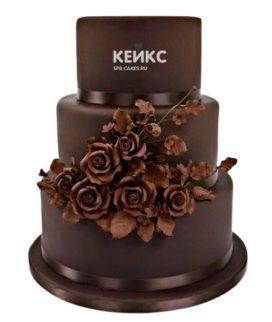 Торт коричневый