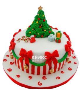Торт на новый год 8