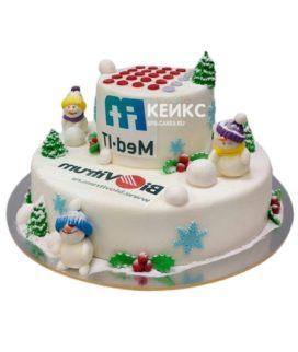 Торт с логотипом 8