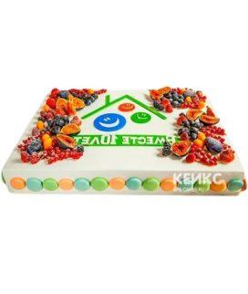 Торт с логотипом 9