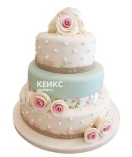 Свадебный Торт в стиле Шебби Шик 1