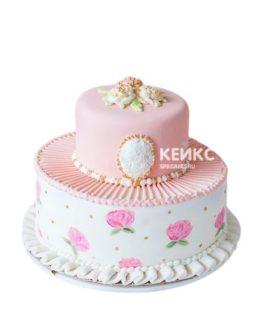 Свадебный Торт в стиле Шебби Шик 10