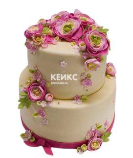 Свадебный Торт в стиле Шебби Шик 11