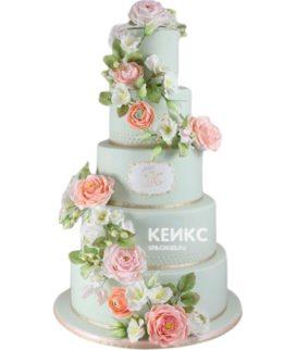 Свадебный Торт в стиле Шебби Шик 2