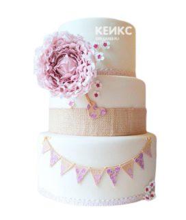 Свадебный Торт в стиле Шебби Шик