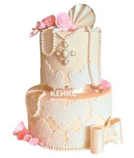 Свадебный Торт в стиле Шебби Шик 3