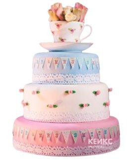 Свадебный Торт в стиле Шебби Шик 4