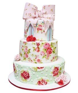 Свадебный Торт в стиле Шебби Шик 5