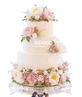 Свадебный Торт в стиле Шебби Шик 6