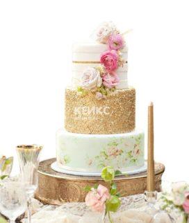 Свадебный Торт в стиле Шебби Шик 7