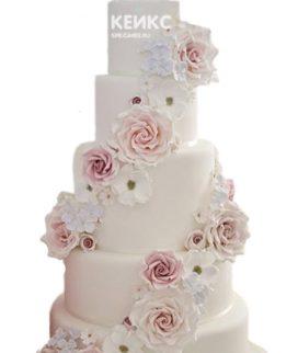 Свадебный Торт в стиле Шебби Шик 8
