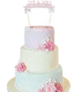Свадебный Торт в стиле Шебби Шик 9