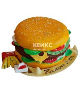 Торт Гамбургер 4