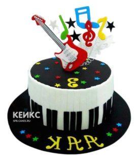 Торт Гитара 4
