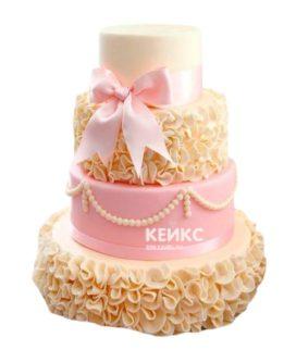 Торт желто-розовый 10