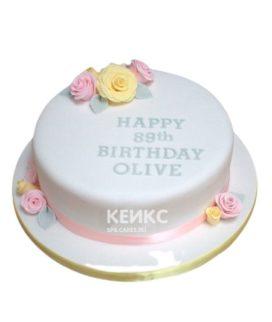 Торт желто-розовый 11