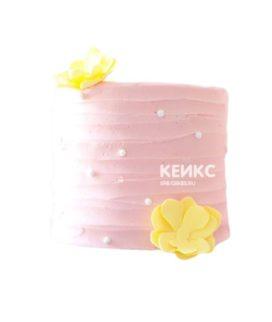 Торт желто-розовый 2