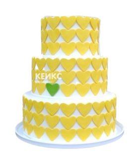 Торт желто-зеленый 1