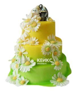 Торт желто-зеленый 2