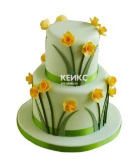 Торт желто-зеленый
