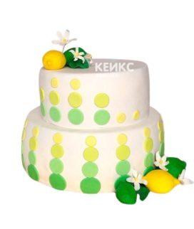Торт желто-зеленый 3