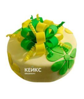 Торт желто-зеленый 5