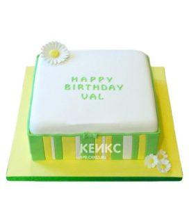 Торт желто-зеленый 6