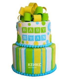 Торт желто-зеленый 7