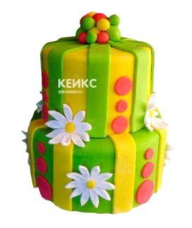Торт желто-зеленый 8