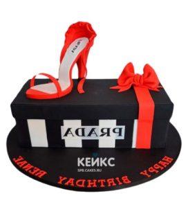 Торт туфелька 17