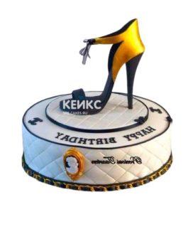 Торт туфелька 18