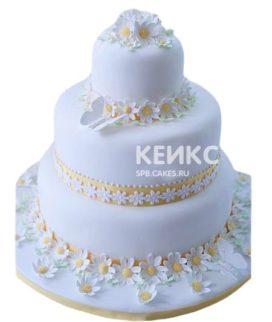 Свадебный торт с ромашками 6