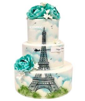 Торт Эйфелева башня 3