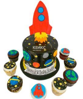 Торт Космический корабль 5