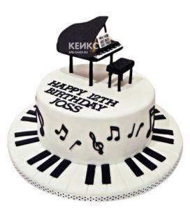 Торт Пианино 14
