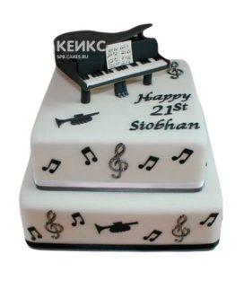 Торт Пианино 6