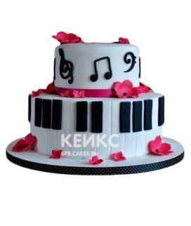 Торт Пианино 7