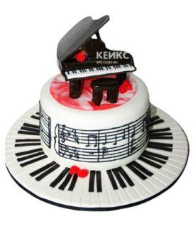 Торт Пианино 9