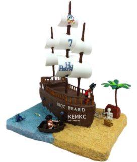 Торт Пиратский корабль 10