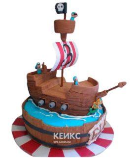 Торт Пиратский корабль 13
