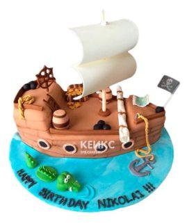 Торт Пиратский корабль 14