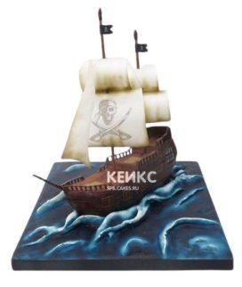 Торт Пиратский корабль 15
