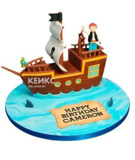 Торт Пиратский корабль 16