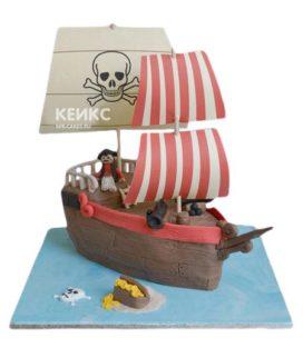 Торт Пиратский корабль 2