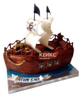 Торт Пиратский корабль 3