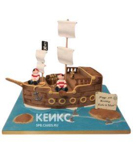 Торт Пиратский корабль 4