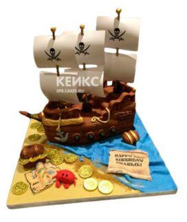 Торт Пиратский корабль 6